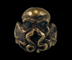 Solid Bronze Cthulhu Ring - Free Re-Size/Shipping