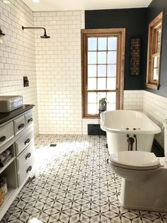 Bathroom decor for your master bathroom remodel. Discover bathroom organization, master bathroom decor some ideas, bathroom tile tips, master bathroom paint colors, and more. Bathroom Renos, Bathroom Flooring, Bathroom Renovations, Bathroom Ideas, Bathroom Organization, Remodel Bathroom, Master Bathrooms, Bathroom Cabinets, Bathroom Mirrors