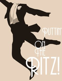 Puttin' On The Ritz! by Robbie Thiessen, via Behance. Nobody better than Fred Astaire.