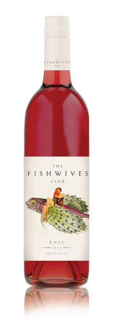 Fishwives Club wine labels  ***scale  Designed by Soil, South Africa, 2011