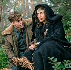 Steve Trevor and Wonder Woman - Chris Pine and Gal Gadot.