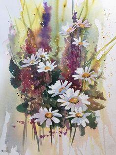 Blomster, akvarell