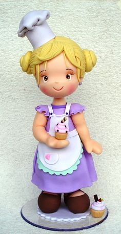 Porcelana fría - Cold porcelain - Sugar paste - Fondant - Polymer clay - Cake Topper