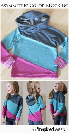 Colorblock the perfect sweatshirt out of diagonal designs: | 23 DIYs For Everyone Obsessed With Colorblocking