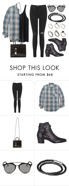 """""""Style #10270"""" by vany-alvarado ❤ liked on Polyvore featuring Miss Selfridge, Denim & Supply by Ralph Lauren, Yves Saint Laurent, Christian Dior, Links of London and ASOS"""