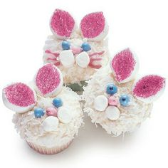 Easter bunny cupcakes - too cute