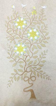 손유영의 민화이야기 Creative Embroidery, Korean Art, Pure Joy, Floral Prints, Fine Art, Pure Products, Drawings, Sarees, Flowers