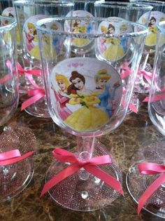 Disney princesses Party GOBLETS Cups/ Decorations/ party cups/ princess party/ disposable cups/ party favors - so cute - could do cheaper myself