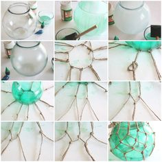 DIY nautical buoys with netting.
