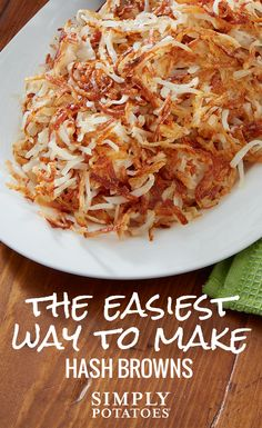 See how Simply Potatoes® make it easy to enjoy perfect, golden-brown hash browns in minutes – every time. No peeling, no shredding. Find more tips and recipes at www. Shredded Hashbrown Recipes, Frozen Hashbrown Recipes, Frozen Hashbrowns, Brunch Recipes, Breakfast Recipes, Breakfast Casserole, Breakfast Potatoes, Breakfast Club, Breakfast