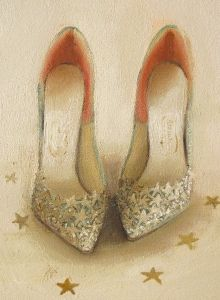 Janet Hill - Starlight - Shoe Painting