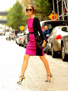 Street Style. Olivia Palermo. I have this dress! :)