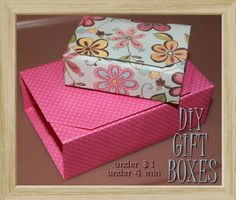 DIY Origami Gift Box; under $1 in under 4 Minutes! by My Personal Accent #origami #diygiftbox