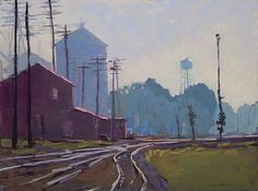 Down By the Tracks (pastel, 18×24) by Carol Strock Wasson