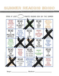 Black and Neon .... Revamp for a classroom Class bulletin board........Summer Reading Bingo Card + Printable Blog Hop - My Sister's Suitcase - Packed with Creativity