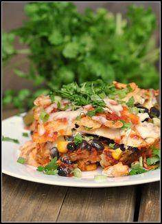 Chicken Enchilada Casserole recipe by preventionrd, via Flickr