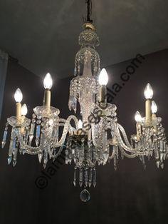 lampara de cristal, lampara de techo, decoracion, interiorism, iluminacion