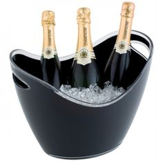 Large Wine / Champagne Bowl Black Acrylic | Red Moon Catering