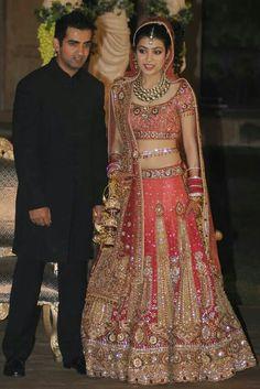 Gautam Gambhir with his bride Natasha