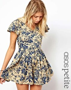 ASOS PETITE Exclusive Playsuit in Vintage Floral Print $59.40