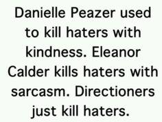 > I love Dani!! I shipped Payzer so hard..I still kinda do...I love how Eleanor does that, she's just like Louis.. :')
