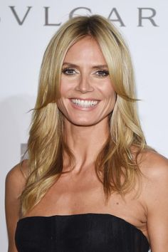 The Most Flattering Hairstyles Ever: Heidi Klum's Middle Part is Perfect for a Round face
