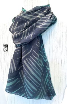 Regalo di Mens, grande Mens seta sciarpa dipinta a mano, regali per gli uomini…