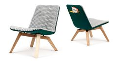 """Lou Sustainable Lounge Chair by Hanna Litwin and Romin Heide  """"The dots kind of massage your skin and make you feel comfortable. The wool we use retains your body heat so you will feel like home immediately."""""""