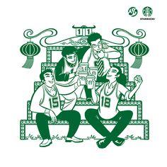 查看《星巴克2013新年海报插画(继续往下续。。。)》原图,原图尺寸:750x750
