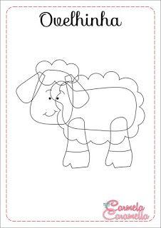 Detalhes e Artes: Moldes Presépio em Feltro: Os animais