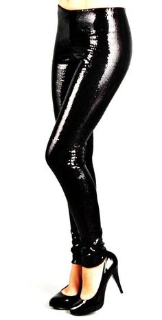 Plus Size Black Sequin Leggings, Sequin Pant Bottoms Black Sequin Leggings, Sequin Pants, Sequin Dress, Thick Girls Outfits, Girl Outfits, Evening Dresses Plus Size, Plus Size Dresses, Dresser, Black Sequins