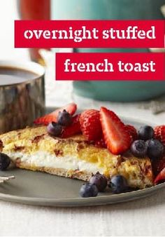 Overnight Stuffed French Toast – Serve this Overnight Stuffed French Toast while the cream cheese is all warm and melty, and your houseguests will think they stumbled into a five-star B&B!