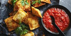 Deep fried goodness. Yes, that's ravioli!