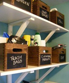 15 DIY Chalkboard Organization Projects
