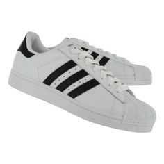 Adidas Men's SUPERSTAR II white/black leather sneakers g17068