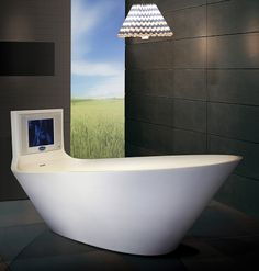 Bathing With Karim Rashid. His New TV Tub & Bath Collections For Saturn Bath. - if it's hip, it's here
