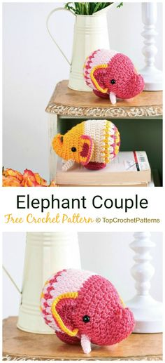 Crochet Elephant Softie and More Free Patterns Tutorials Crochet Elephant Softies and More Free Patterns Tutorials: Amigurumi Elephant Toys, Kids, Baby Booties, Hair Tie, Snuggles and Crochet Elephant Pattern, Crochet Animal Patterns, Stuffed Animal Patterns, Crochet Animals, Crochet Ideas, Knitting Patterns, Crochet Teddy, Crochet Amigurumi, Amigurumi Patterns