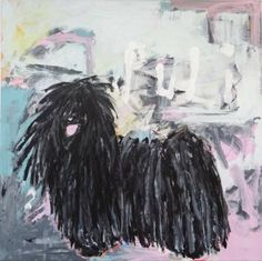 "Saatchi Art Artist Andy Shaw; Painting, ""Puli Dog"" #art"