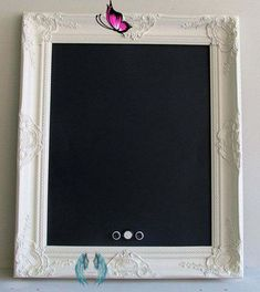 FRAMED CHALKBOARD Vintage Chalkboard MAGNETIC Chalkboard | Etsy Vintage Chalk Board Framed by ShugabeeLane, $114.00.  Maybe could find pretty vintage frame and paint white and make own.<br> Vintage Chalkboard, Magnetic Chalkboard, Kitchen Chalkboard, Framed Chalkboard, Chalkboard Wedding, Christmas Gifts For Her, Christmas Signs, Christmas Diy, Home Design