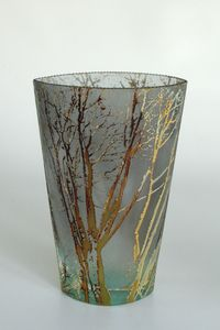 Glass Vase by Mary-Melinda Wellsandt. American Made. See the artist's work at the 2014 Buyers Market of American Craft, Philadelphia, PA. January 18-21, 2014. americanmadeshow.com #vase, #glassvase,  #glass, #americanmade