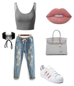 """Sin título #57"" by camila-radino on Polyvore featuring moda, Doublju, adidas, Hermès, Lime Crime y Miss Selfridge"
