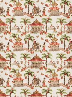 mougin cypress home decor chinoserie print multipurpose fabric
