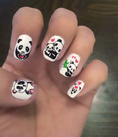 Nailpolis museum of nail art cute panda nails by xnailsbymiri cute panda nails prinsesfo Images