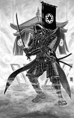 Here's a little Samurai Vader to brighten up your day. #StarWars