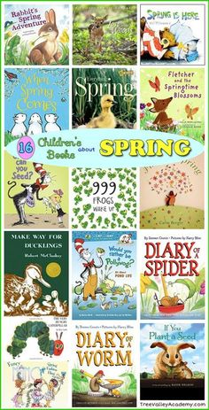 16 of our favorite children's books about spring! #spring #booksforkids
