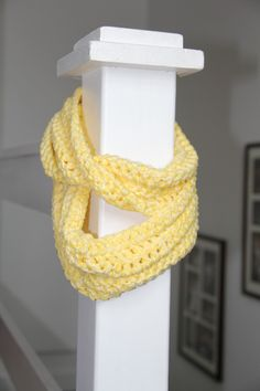Yellow Daffodil Cowl / Infinity Scarf / Eternity Scarf. $30.00, via Etsy.
