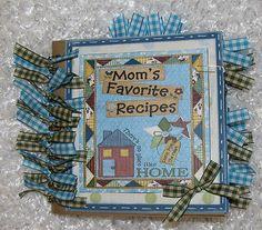 "6x6 ""Recipe"" Premade Scrapbook Pages Paper Bag Album Comes with 22 Recipe Cards | eBay"