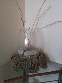 Vanocni dekorace juta