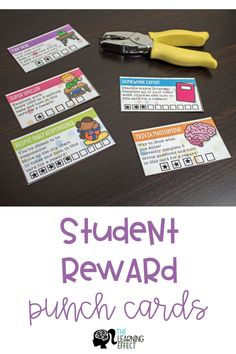 Use Punch Cards as a reward system in your classroom for a fun and simple twist on classroom management. These editable punch cards can be used for behavior, homework, and more! Your students will lov Classroom Incentives, Classroom Hacks, Classroom Organization, Classroom Themes, Behavior Incentives, 2nd Grade Classroom, Kindergarten Classroom, School Classroom, Future Classroom