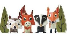 paper animals...cute for a woodland animal baby shower for my SIL
